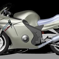 Sports Motor Bike 3D Model