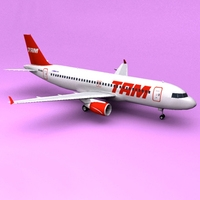 A320 TAM 3D Model