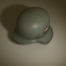 German steel helmet m42 3D Model