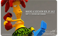 PART 2, MAKiNG A SIDESHOW BOB BY JALO, Rigging and Skinning