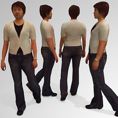 10 Low Polygon 3d People - Casual 3D Model