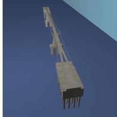Millennium bridge (.obj) 3D Model