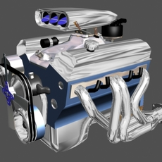 Chevy Small Block 3D Model