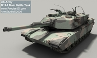 M1A1 Main Battle Tank 3D Model