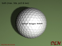 Golf 3D Model