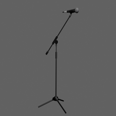 Mic and stand 3D Model