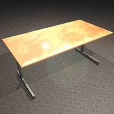 Office Desk (.DXF) 3D Model