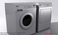 Washing Machine and Dryer 3D Model