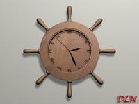 Wall clock set 3D Model