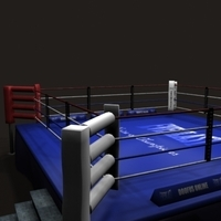 Boxing Ring - Textured 3D Model