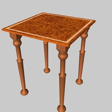 Occasional table with beading 3D Model