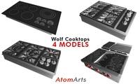 Wolf Cooktops - 4 Models 3D Model