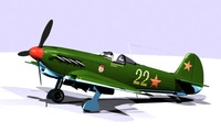 Fighter Yak 9 D w\t 3D Model