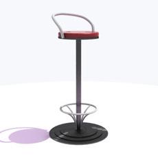 A bar chair 3D Model