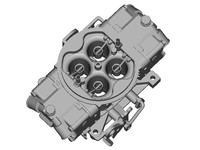 HOLLY 4-BARREL CARBURETOR 3D Model