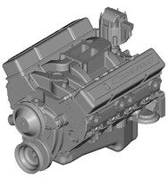 CHEVROLET SMALL-BLOCK ENGINE 3D Model