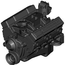 CHEVROLET SMALL-BLOCK ENGINE 3D Model