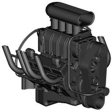 BLOWN CHEVROLET SMALL-BLOCK ENGINE 3D Model