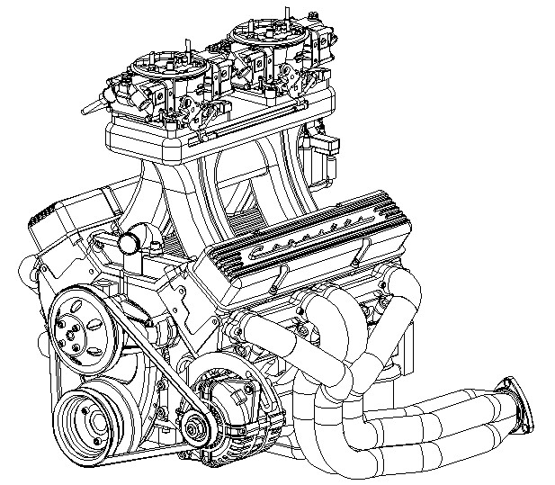 small block chevy pcv system diagram sketch coloring page