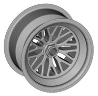 PIN-DRIVE RACE WHEEL 3D Model