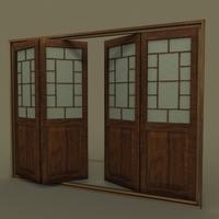 Japanese Folding Doors 3D Model