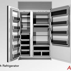 Subzero 48 inch Refrigerator 3D Model