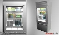 Sub-Zero 36 inch Refrigerator 3D Model