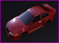 A LOW POLY SPORT CAR 3D Model