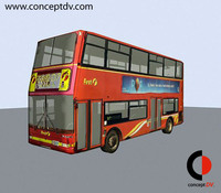 London Red Bus 3D Model