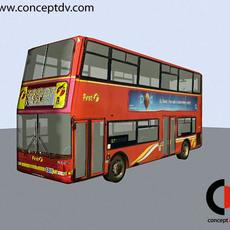 London Red Bus 3D Model
