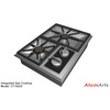 23 47 37 588 wolf integrated cooktops gas 4