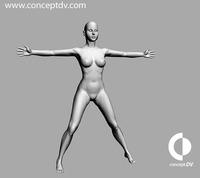Female Human Figure 3D Model