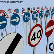UK Road Traffic Signs  3D Model
