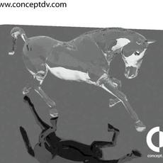 Glass Horse Statue 3D Model