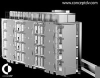 Free Trinity Cresent Building 3D Model