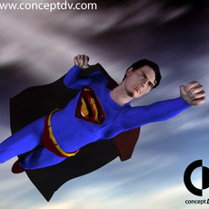 Superman Returns Poser 3D Model