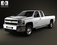 Chevrolet Silverado HD ExtendedCab LongBed 2011 3D Model