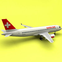 A-320 Swiss Sun (Swiss International Air Lines) 3D Model