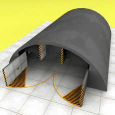 NATO  aircraft shelter 3D Model
