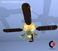 Ceiling Light Fan 3D Model