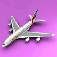 A-380 Emirate 3D Model