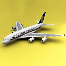 A-380 Singapore 3D Model