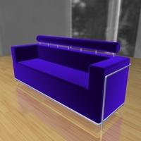 ThreeSeater-02 3D Model