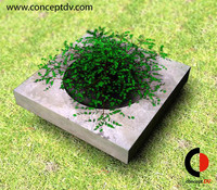 Concrete Flower Stand 3D Model