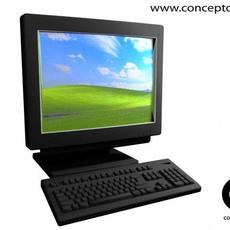 Flat Screen Computer 3D Model