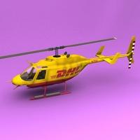Bell 206 NBC 3D Model