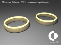 Free Wedding Rings 3D Model