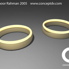 Wedding Rings 3D Model