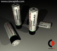 4XAA Batteries  3D Model