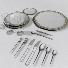 Plate set 2 3D Model